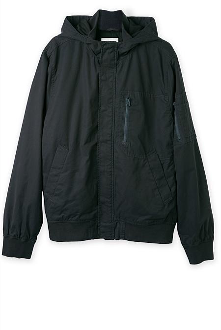 Hooded Flight Jacket | Casual Jackets & Coats