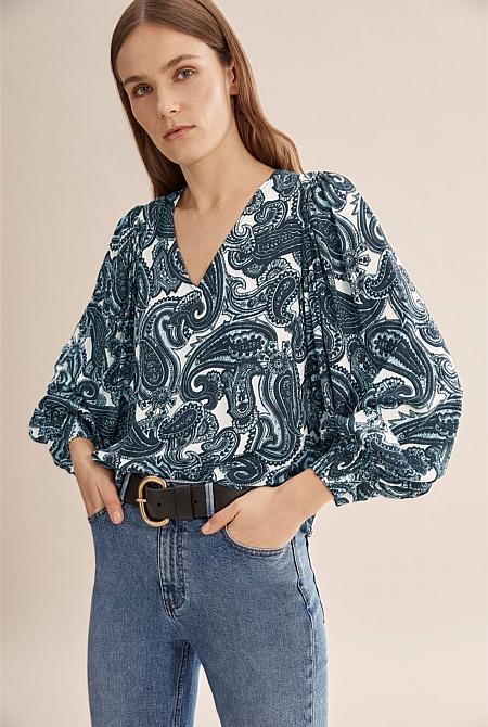 Winter Paisley Popover | Shirts