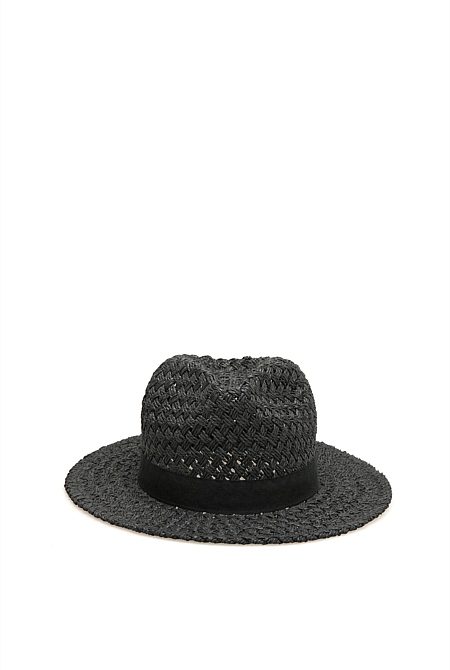26bfff56aea85 Textured Woven Trilby | Hats & Gloves