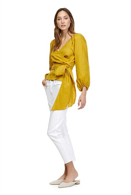 274ab5c87d Linen Wrap Blouse | Shirts