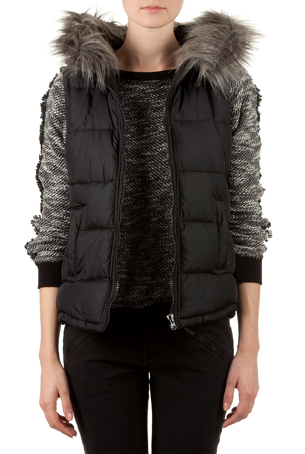 Women s coats jackets amp puffer vests country road online contrast