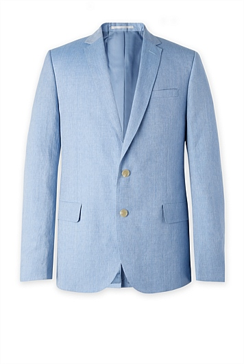 Contemporary Chambray Linen Wool Jacket