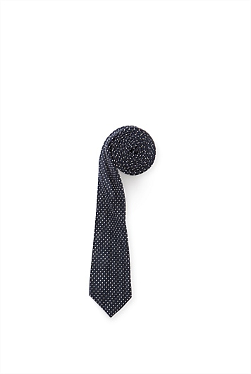 Solid Square Dot Tie