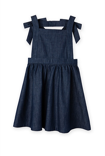 Bow Denim Dress