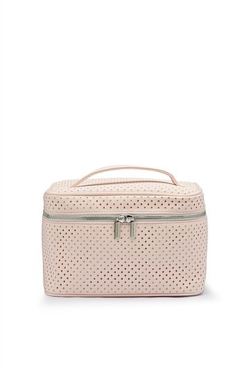 Perforated Large Cosmetic Bag Case