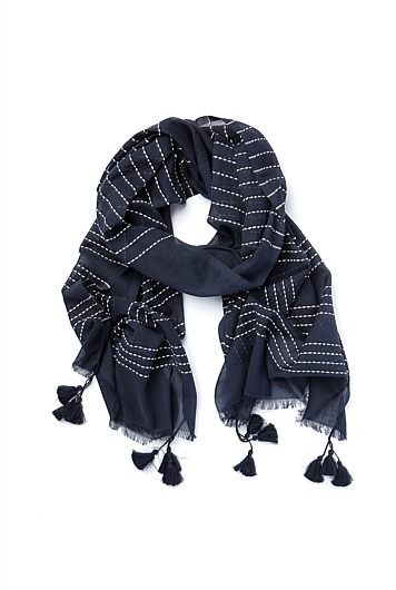 Stitch Stripe Scarf
