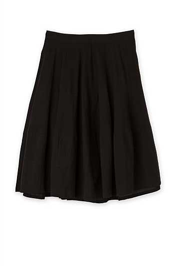 Spiral Seam Detail Skirt