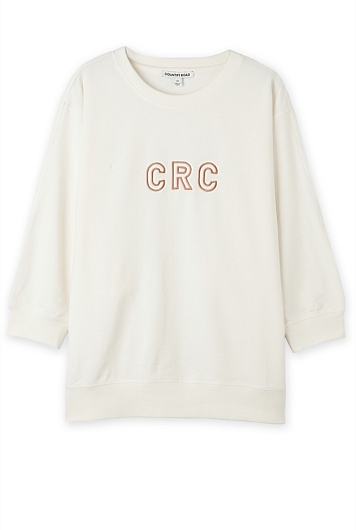Country Road Script Sweat Top