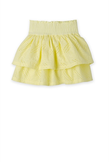 Broderie Tiered Skirt