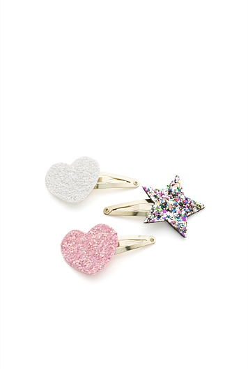 Shapes Hair Clip Pack of 3