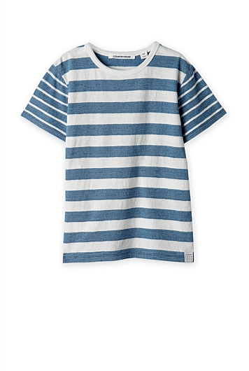 Mix Stripe Indigo T-Shirt