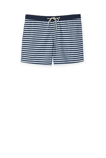 Simple Stripe Swim Short