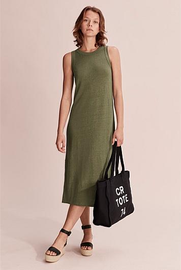 Linen Jersey Tank Dress