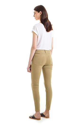 Side Pocket Sateen Jean