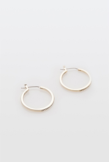 Double Side Pave Hoop Earring