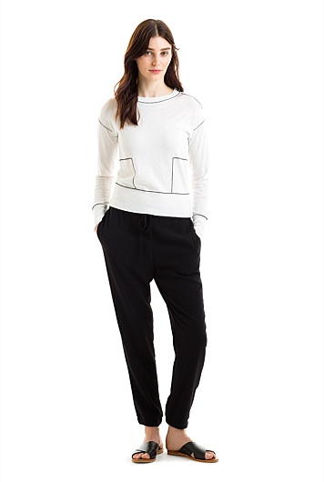 Contrast Linked Sweater