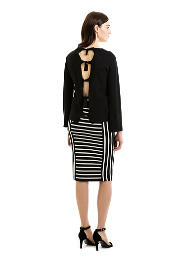 Stripe Milano Skirt