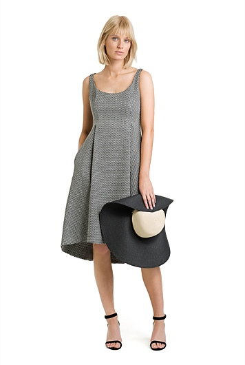 Textured Flare Dress