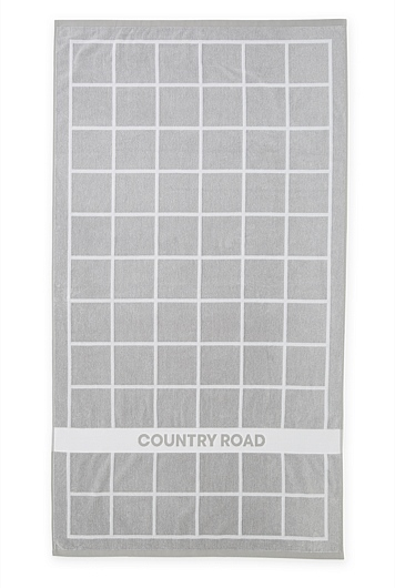 Country Road Grid Beach Towel