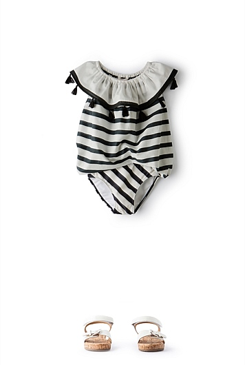 Stripe Tassel Top