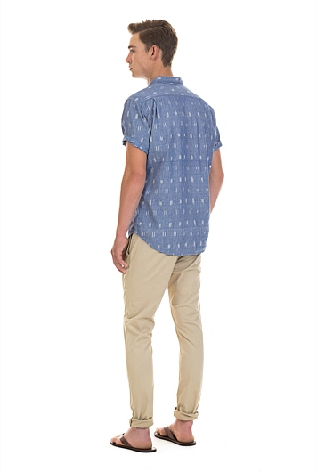 Ikat Chambray Shirt
