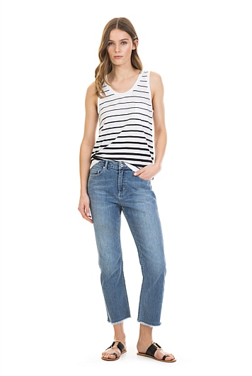 Slouchy Pocket Stripe Tank