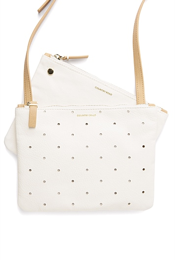 Perforated Double Crossbody