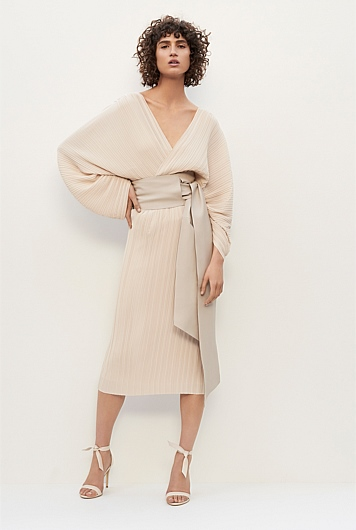 Belted Pleat Dress | Collection 1