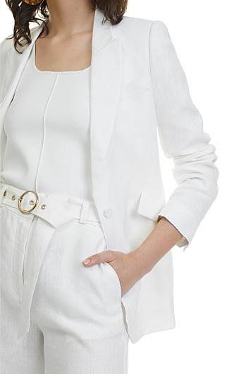 Linen Single Breasted Jacket