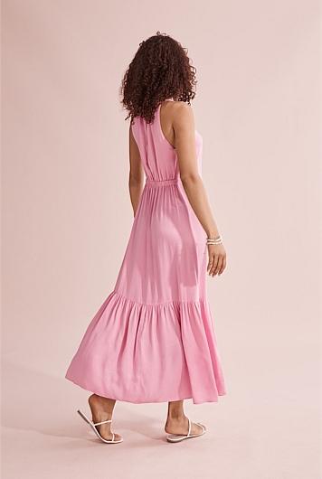 Cupro Maxi Dress