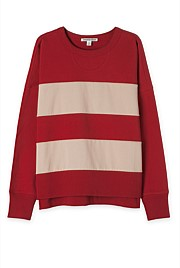 Block Stripe Sweat