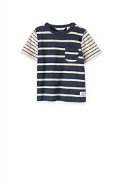 Splice Stripe  T-Shirt