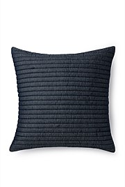 Channelled Denim Cushion