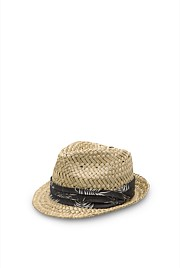 Palm print Straw Hat