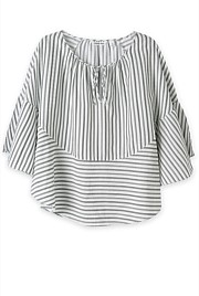 Batwing Stripe Voile Shirt