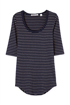 Lurex Stripe T-Shirt