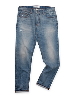 Slim Mid Wash Rip Jean