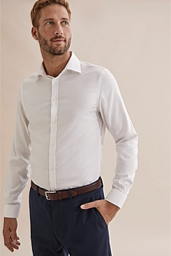 Slim Textured Travel Shirt