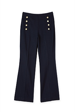 Button Detail Flare Pant