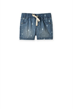 Denim Print Short