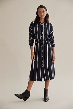 b7491432597 Stripe Shirt Dress