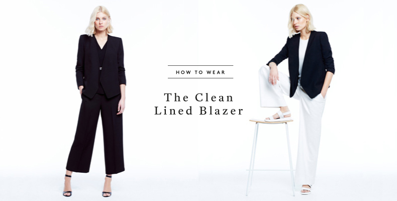 How to Wear The Clean Lined Blazer
