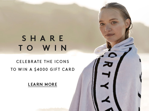 Share to Win - Celebrate the icons to win a $4000 gift card. Learn more