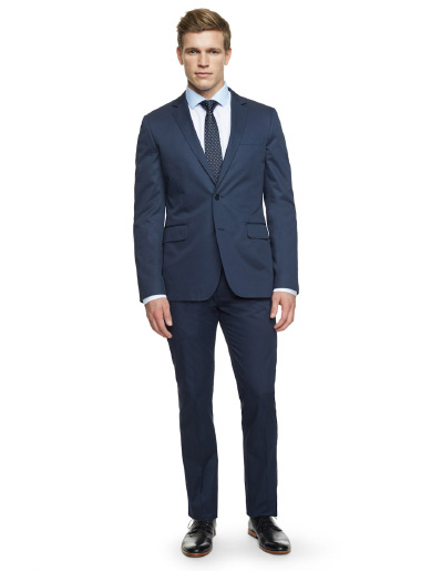 Lookbook: The Spring Suit In French Navy Italian Cotton